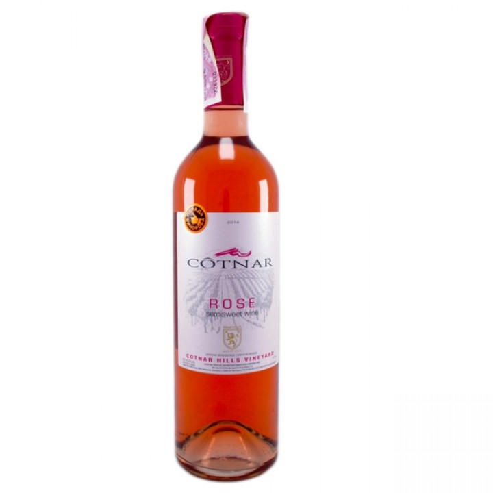 Вино ROSE COTNAR рожеве напівсолодке 0.75 л
